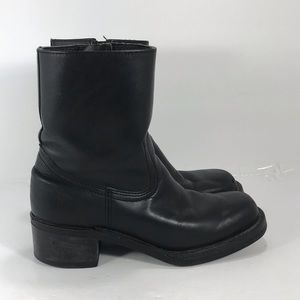 Frye black leather motorcycle boots size 7.5
